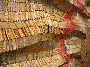 Drying towels (detail) (El Anatsui)